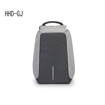 HHD-GJ External Charging USB Fashion Men Backpack Leather School Travel Laptop Bags Anti-theft Computer Bag