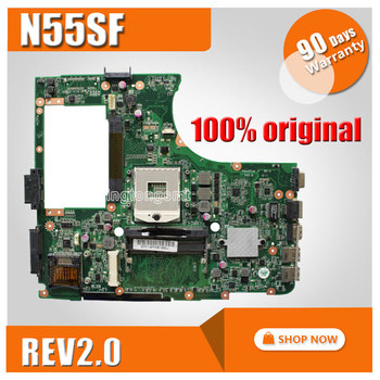 N55SF For ASUS N55S N55SL Motherboard N55SF REV2.0 Mainboard 60-N5FMB3600B03 PGA989 fully Tested