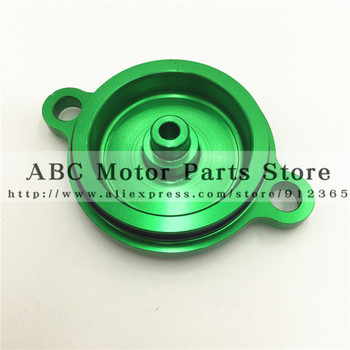 Green CNC Billet Oil Filter Cover Fuel Cap For Kawasaki KX450F KX 450F KXF450 MX
